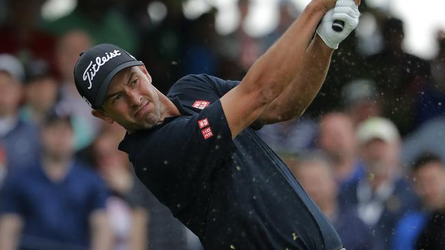 Adam Scott was on fire on Friday to keep his tournament hopes alive. Picture: AP