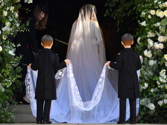 Meghan Markle, wearing a Givenchy gown. Picture: Getty Images