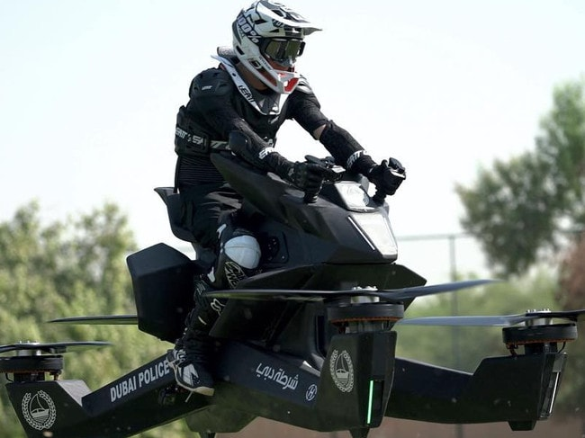Consumers could order a hoverbike, but it would set them back about $206,000. Picture: Hoversurf