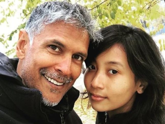Milind Soman and Ankita Konwar have been flaunting their love on social media. Picture: Instagram