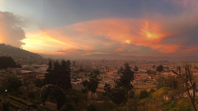 The family has been living in Xela, a city set among volcanoes in Guatemala's western highlights. Picture: Julie Woolley
