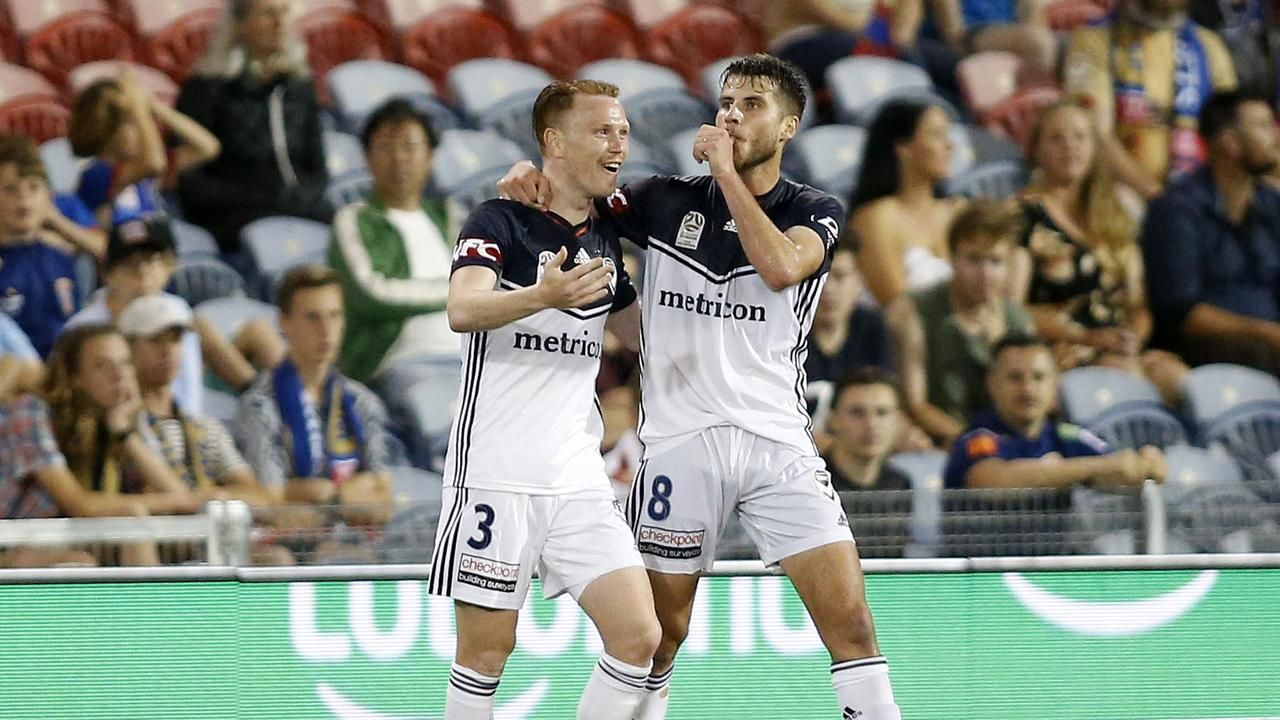 Terry Antonis struck as Melbourne Victory beat the Newcastle Jets.