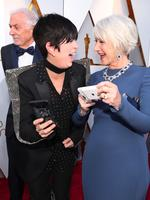 Diane Warren and Helen Mirren attend the 90th Annual Academy Awards on March 4, 2018 in Hollywood, California. Picture: Getty