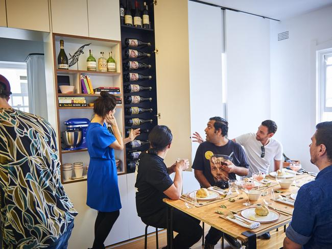 KitchenAid recently hosted Australia's smallest pop-up restaurant in the Darlinghurst apartment. Picture: KitchenAid