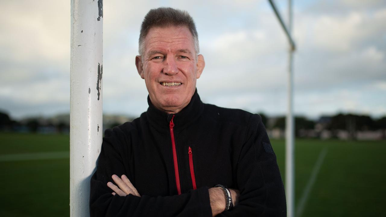Fiji's national coach John McKee poses for a photograph at Poneke Park in Wellington.