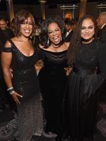 Gayle King, Oprah Winfrey and Ava DuVernay celebrate The 75th Annual Golden Globe Awards with Moet and Chandon at The Beverly Hilton Hotel on January 7, 2018 in Beverly Hills, California. Picture: Getty