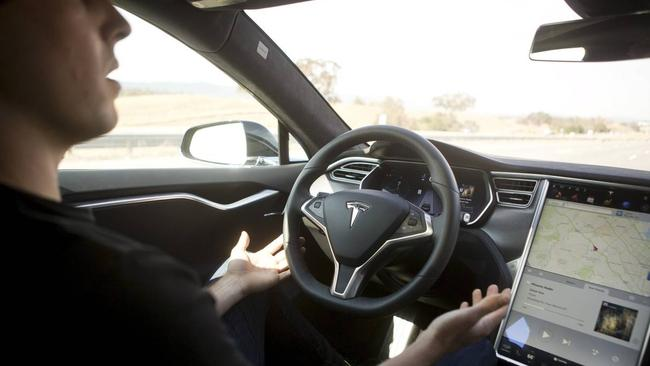 Tesla's Autopilot system, which provides functions such as hands-free cruising and lane changing, has become a star of YouTube videos by drivers out to push its limits. Picture: Beck Diefenbach