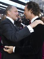 Woody Harrelson and Matthew McConaughey attend the 90th Annual Academy Awards on March 4, 2018 in Hollywood, California. Picture: AP