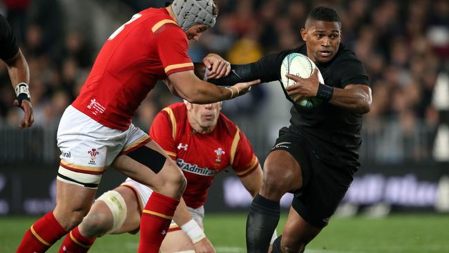 Explosive winger Waisake Naholo scored a brace of tries for the All Blacks.