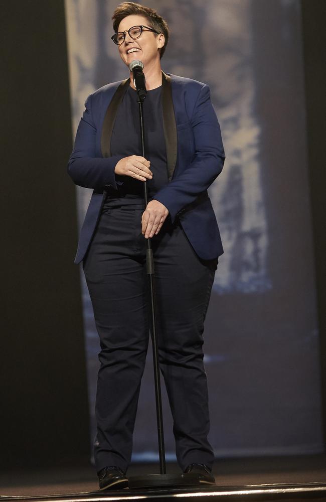 Hannah Gadsby in Nanette on Netflix. Picture: Netflix