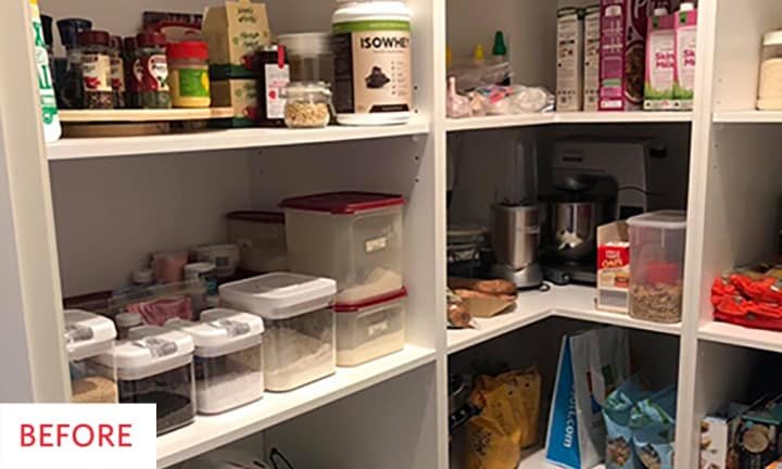 Mum's pantry makeover is stunning and she did it all with things from Kmart
