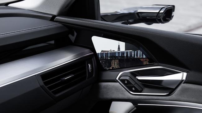 Side view: The Audi e-tron will feature digital mirrors.
