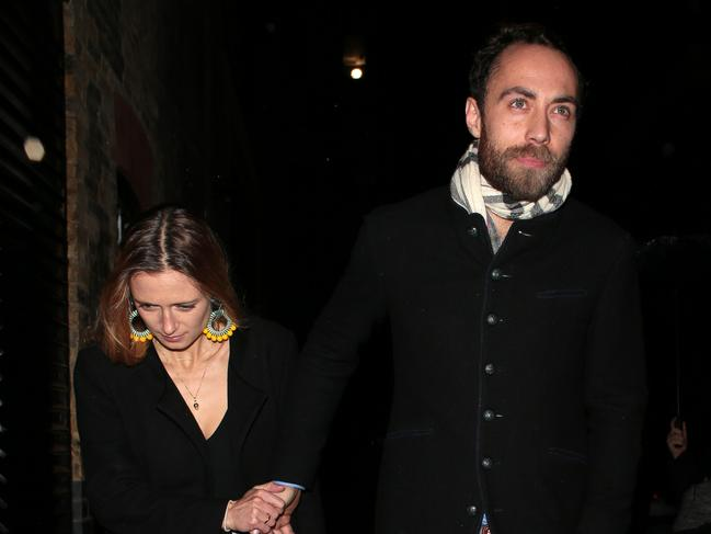 James Middleton and new fiancee, Alizee Thevenet. Picture: Splash News