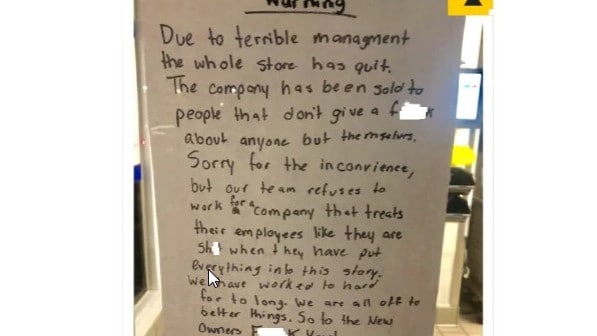 Teams at Sonic branches have been quitting en masse. Picture: Twitter @_ericblanc
