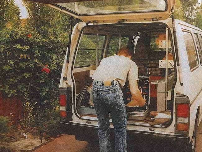 "The accused killer's wife, whose identity is suppressed, was asked about the types of Telstra van he drove in the early stages of their relationship, saying they were ""square-type"" like the model pictured. He worked for the company as a technician. Picture: AAP Image/Supplied by the Western Australian Supreme Court."