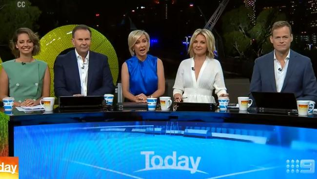 The show took a risk debuting its new team in a challenging setting — out of the studio. Picture: Channel 9