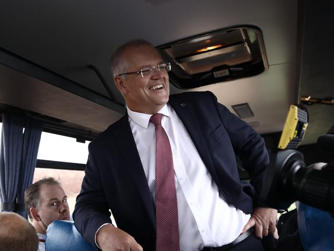 Meanwhile, Prime Minister Scott Morrison has been enjoying a relatively smooth ride. Picture: Dominic Lorrimer