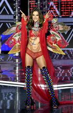 Victoria's Secret Angel Alessandra Ambrosio walks the runway during the 2017 Victoria's Secret Fashion Show In Shanghai at Mercedes-Benz Arena on November 20, 2017 in Shanghai, China. Picture: Frazer Harrison/Getty Images for Victoria's Secret