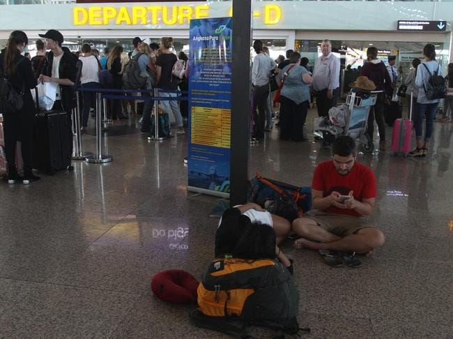 Denpasar airport officials said they would reassess the airport's closure on Tuesday. Picture: Lukman S. Bintoro