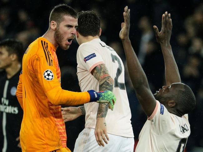 Manchester United's Spanish goalkeeper David De Gea (L) would be a top target for Real under Zidane. Picture: Geoffroy Van der Hasselt/AFP