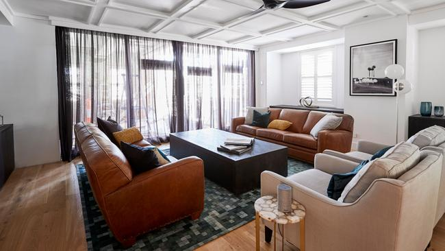 Kerrie and Spence's living room. Source: The Block