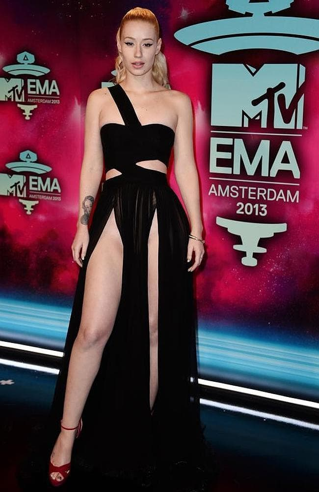 Iggy Azalea exposed a tad more than she bargained for at the MTV EMAs. Picture: Getty