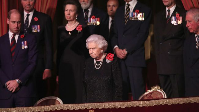 The Queen wore sparkly black. Source: Getty Images