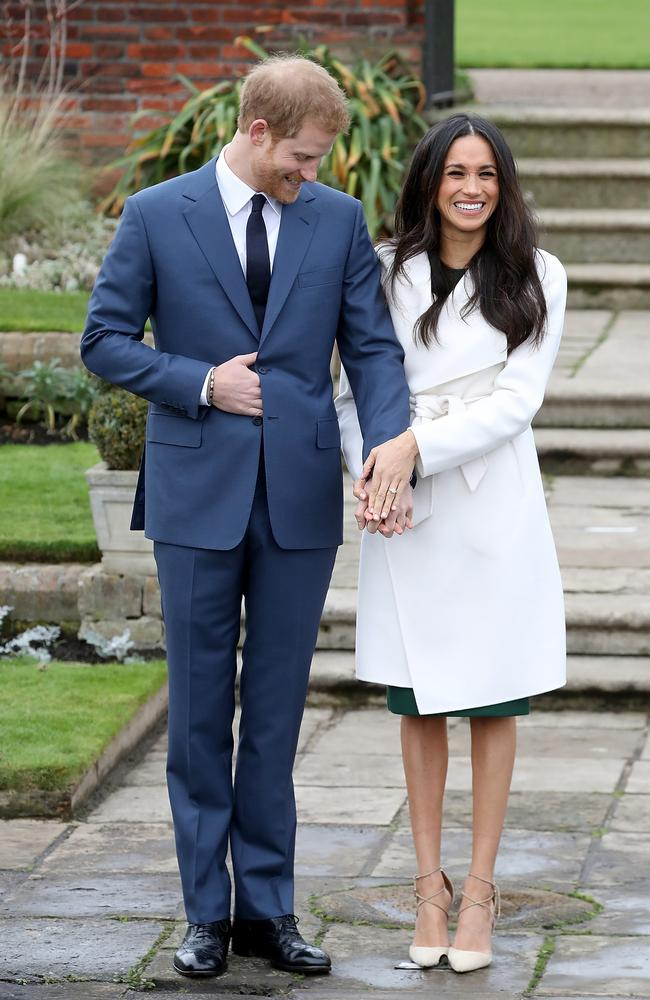 The happy couple officially announced their engagement on Monday in London. Picture: Chris Jackson/Getty Images