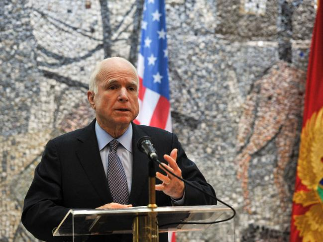 Former US Senator John McCain has passed away. He had a colourful life in the public eye. Picture: AFP