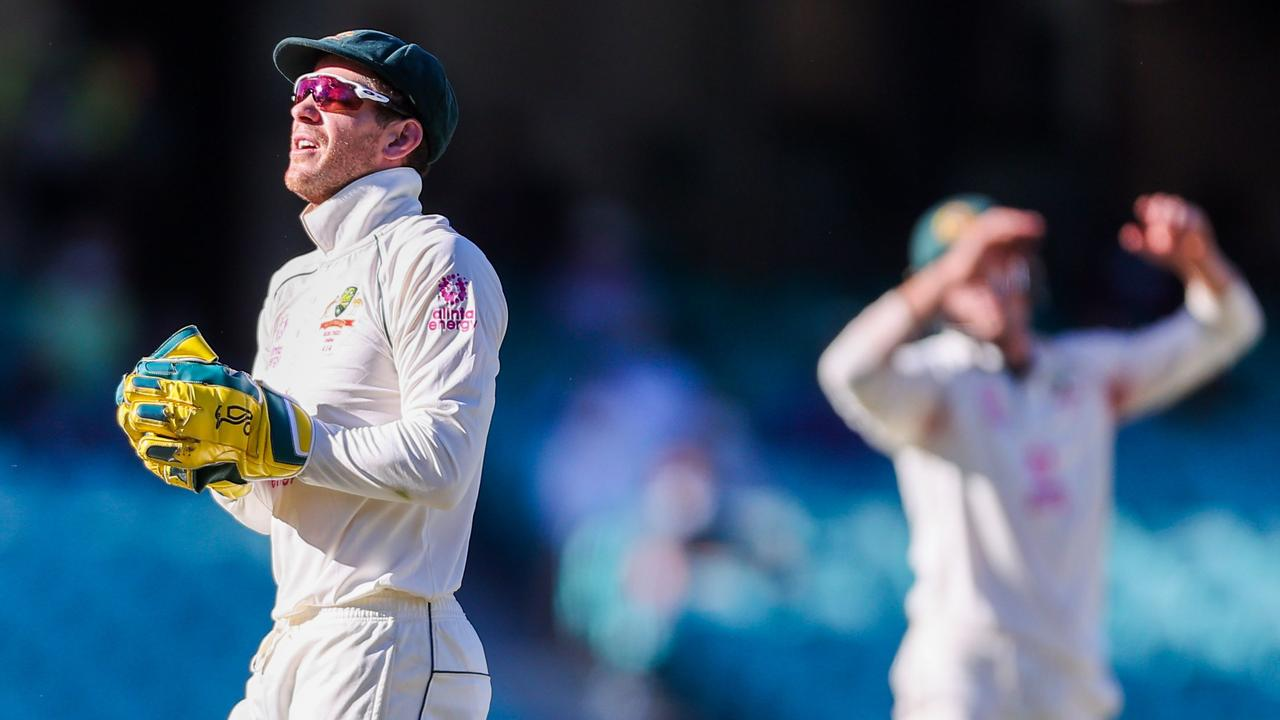 Australia's captain Tim Paine had several crucial drops on the last day. (Photo by DAVID GRAY / AFP)