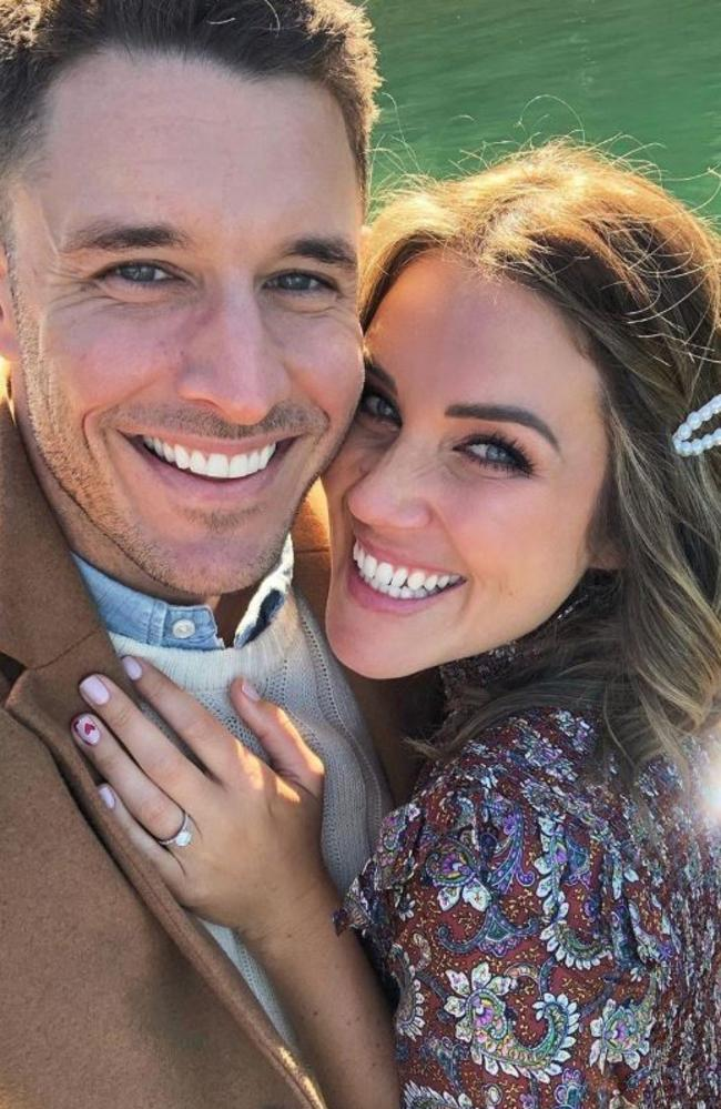 Meanwhile, Georgia Love and Lee Elliot were engaged this month. Picture: Instagram.
