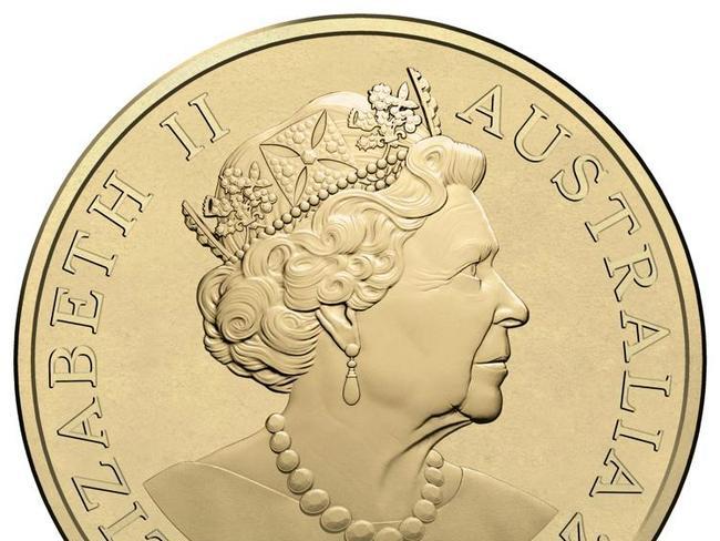 The new effigy of Queen Elizabeth II. Picture: AAP Image/Department of Treasury