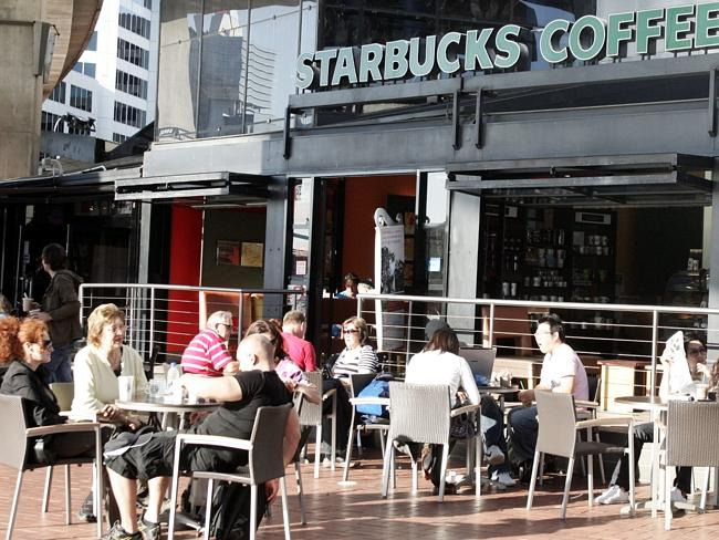 Starbucks coffee store at Darling Harbour in Sydney.
