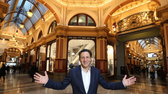 Owner of the Block Arcade Grant Cohen is concerned about the tax changes. Picture: Mark Wilson