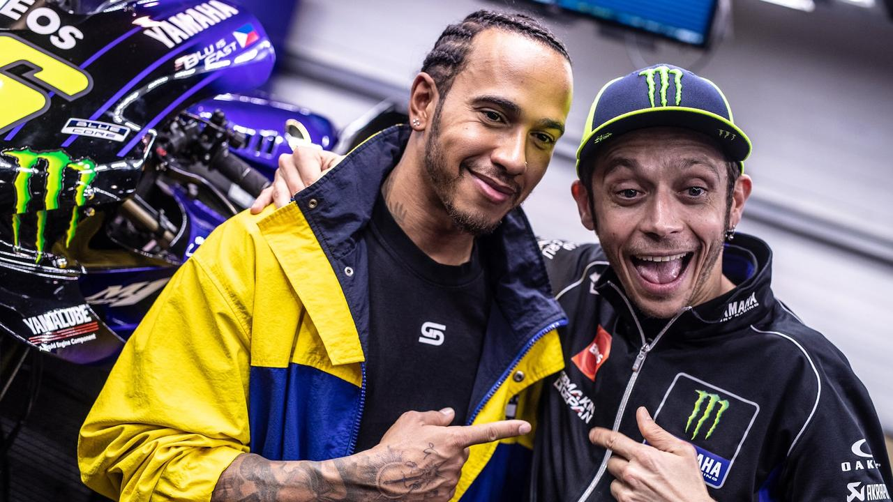 Rossi and Hamilton will swap machines. Picture: @MercedesAMGF1
