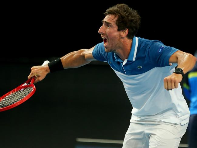 Pablo Cuevas, you pelican. (Photo by James Worsfold/Getty Images)