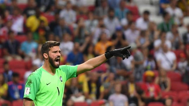 Brazil's goalkeeper Alisson Becker.