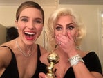 """Check out all the best snaps taken by your favourite stars at the 2016 Golden Globes: Sophia Bush ... """"our girl WON!! #OneChicago alright! Love you @ladygaga #goldenglobes"""" Picture: Instagram"""