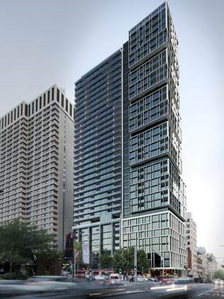 The luxury tower was designed by architects Bates Smart.
