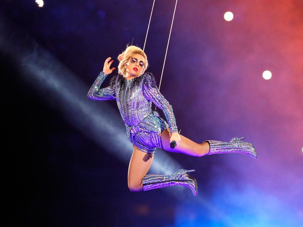 Lady Gaga put on a show at the Super Bowl in 2017. Picture: AFP/Getty Images