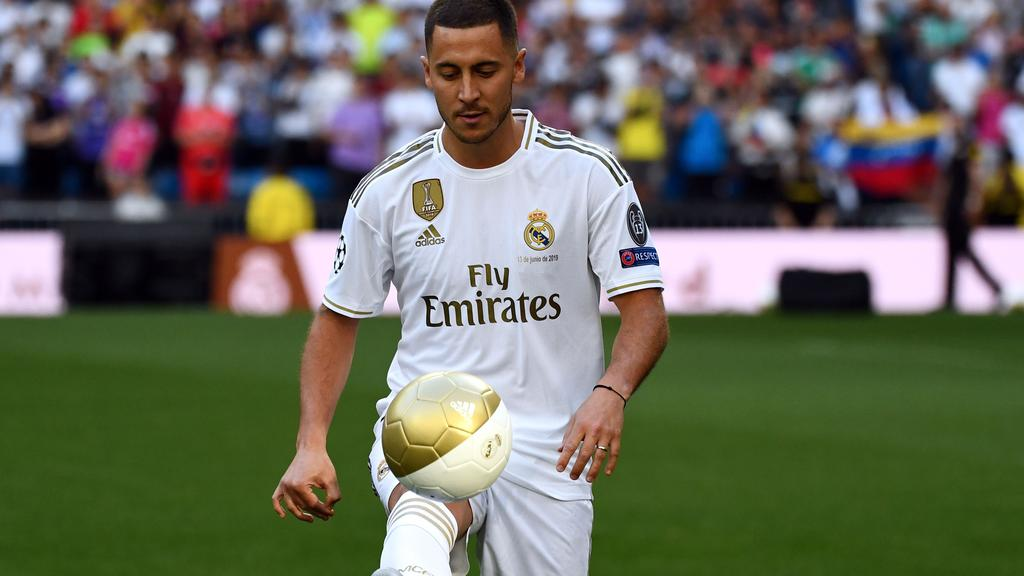 bc0b00547 Former Chelsea star Eden Hazard unveiled as Real Madrid's third major  off-season recruit