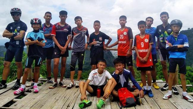 The Thai soccer team spent days trapped in the cave. Picture: EKATOL/Facebook