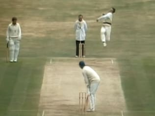 Lawson gets serious elevation before dismissing David Gower in 1981