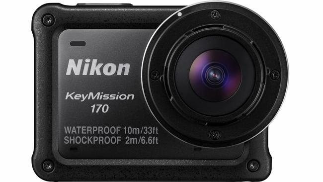 The Nikon KeyMission is an action camera waterproof to 10m that can shoot 4k video and has a 8 megapixel camera.