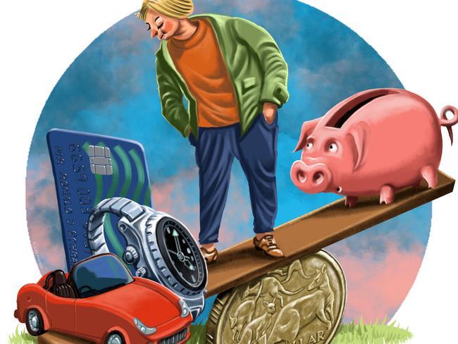 Saving is always a balancing act between priorities. Artwork: John Tiedemann