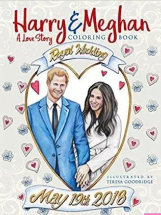 Troop the colour with this royal wedding colouring book for $13. Photo: Supplied