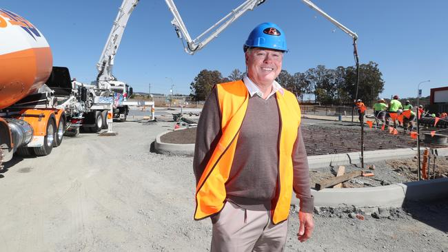 Greg Rix on site at Pimpama City Shopping Centre, which his company built and owns. Photo: Richard Gosling.