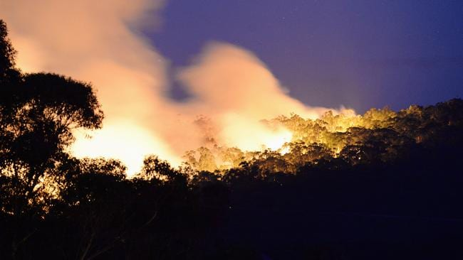 The fire is threatening homes and lives. Picture: Lawrence Pinder