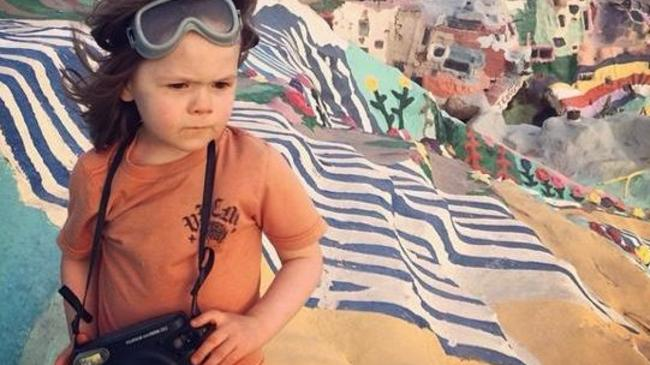 Hawkeye Huey at Salvation Mountain age four.