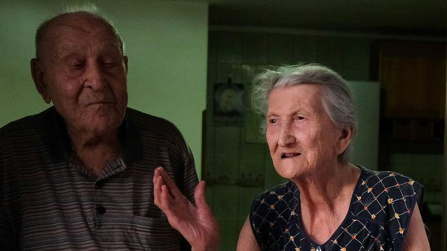 Antonio Vassallo, 100, and his wife Amina Fedollo, 93. Picture: Mario Laporta/AFP/Getty Images